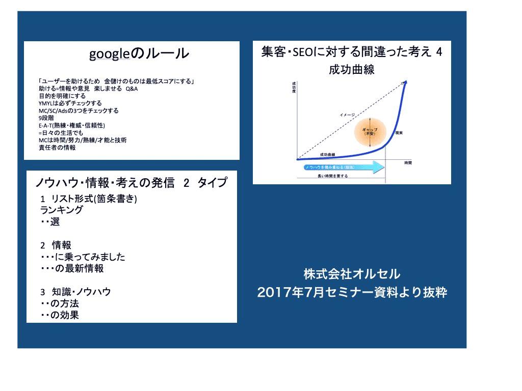 SEOの入門セミナー資料の抜粋のキャプチャー画像