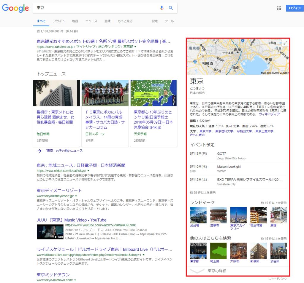 「東京」の検索結果のキャプチャー画像